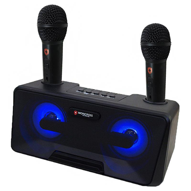 몽크로스 휴대용 듀얼 마이크 블루투스 노래방 세트, MSDM-K1010