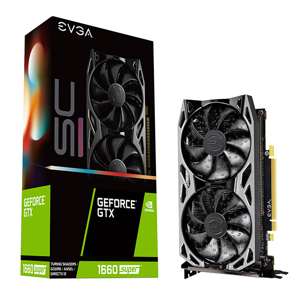 EVGA 지포스 GTX 1660 SUPER SC ULTRA GAMING 그래픽카드 D6 6GB, EVGA GeForce GTX 1660 SUPER SC ULTRA