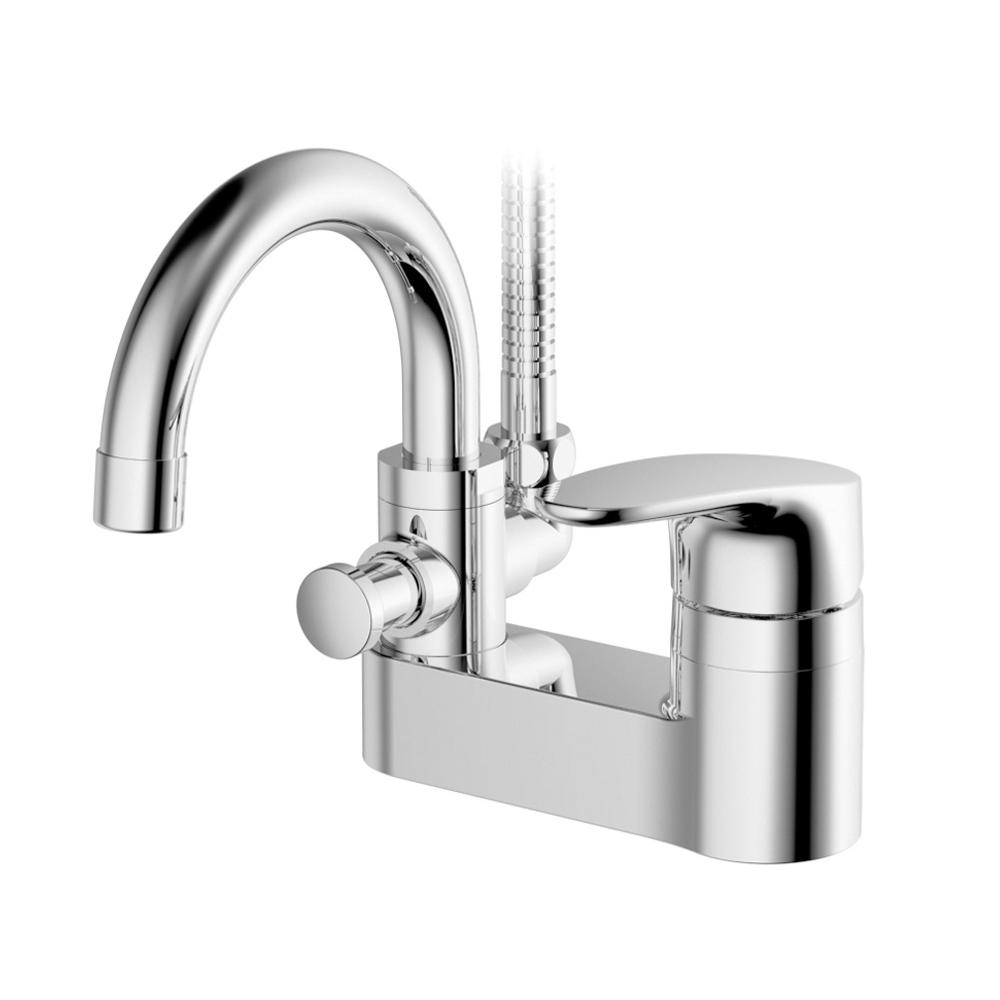 대림바스 투홀 세면 샤워 겸용 수전 DL-YB6A15 10.16cm, 1개