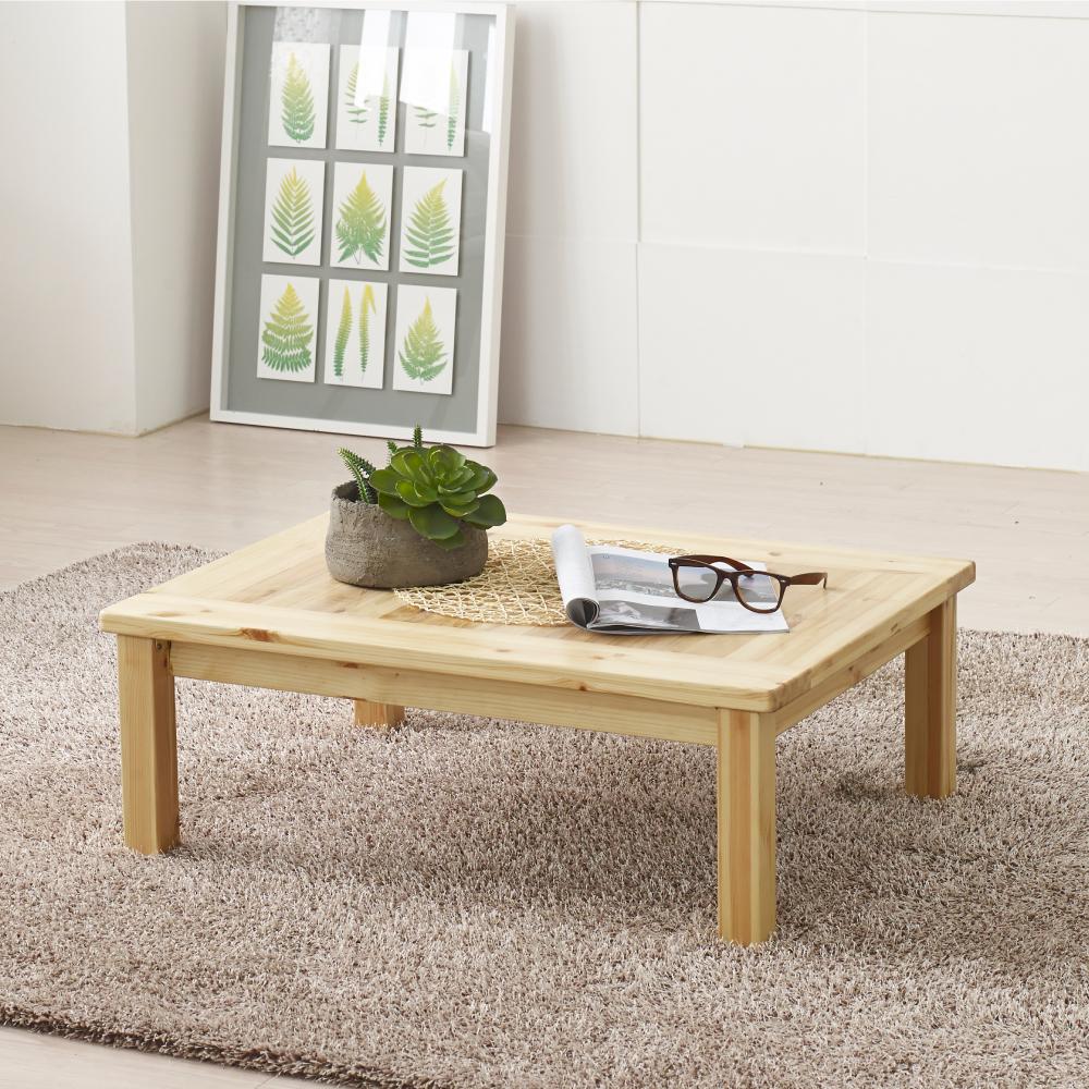조은세상 편백나무 원목 테이블 800 x 600 mm, 내추럴