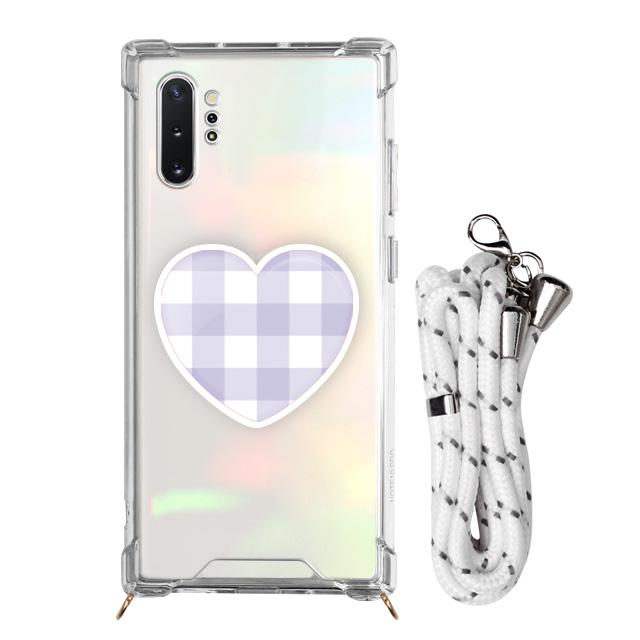 바니몽 목걸이 챠밍톡 화이트 컬러체크하트 휴대폰 케이스