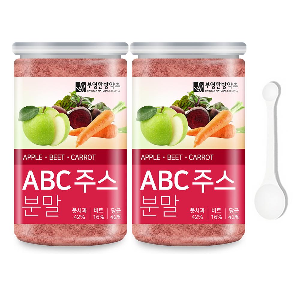 부영한방약초 풋사과 비트 당근 ABC주스 분말 170g x 2p + 계량 스푼 세트, 2개
