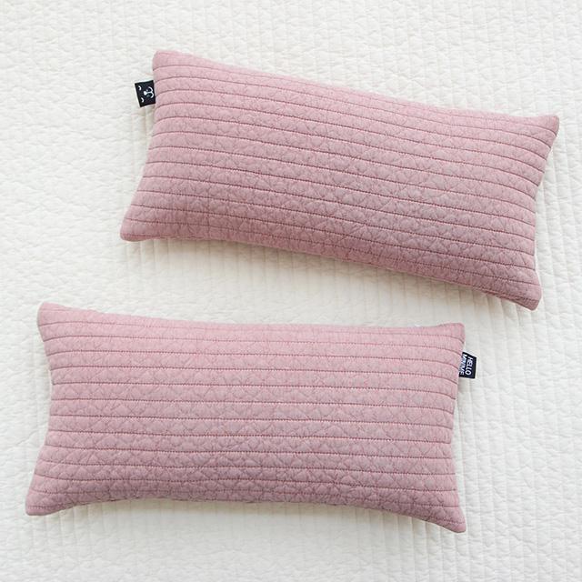 헬로미니미 누빔 아기 베개 커버 2p + 솜 2p 세트, 핑크