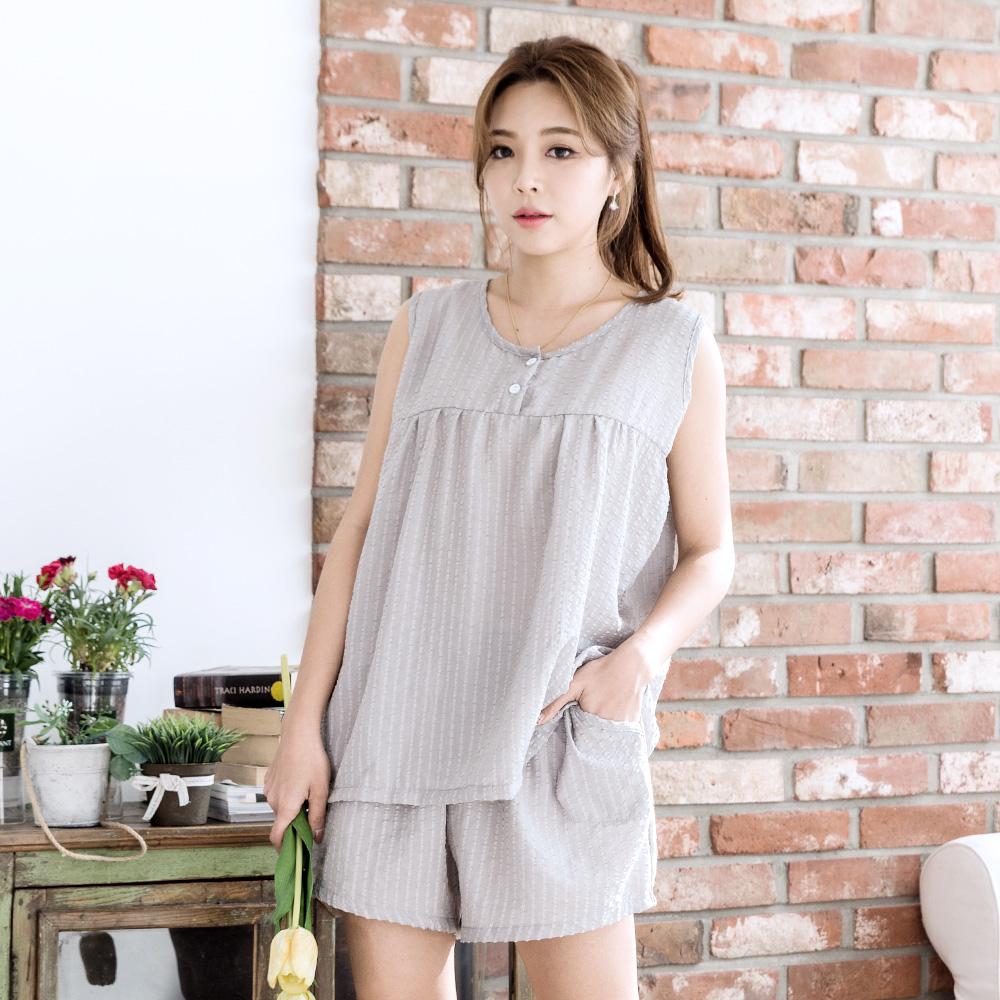 민트코코아 여성용 엠보 체크잠옷 쿨 나시 상하세트