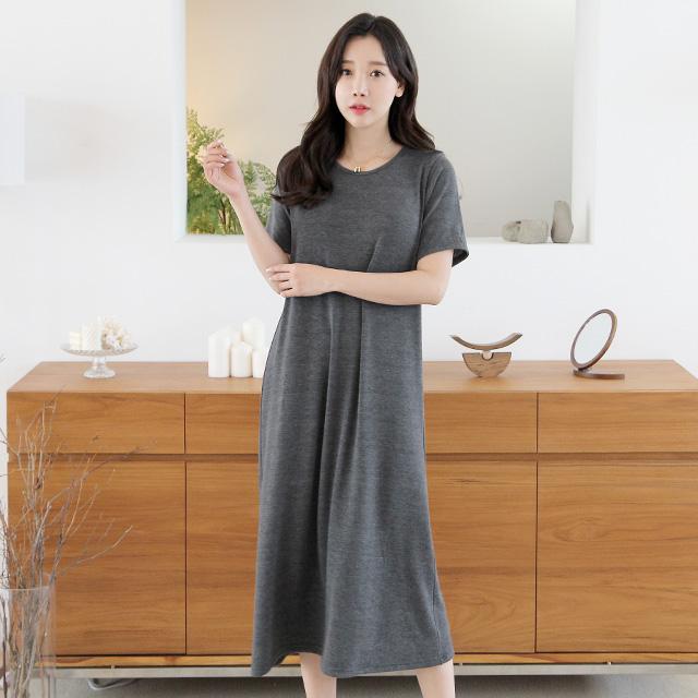 세이스타일 바비 반팔 루즈핏 A롱 원피스