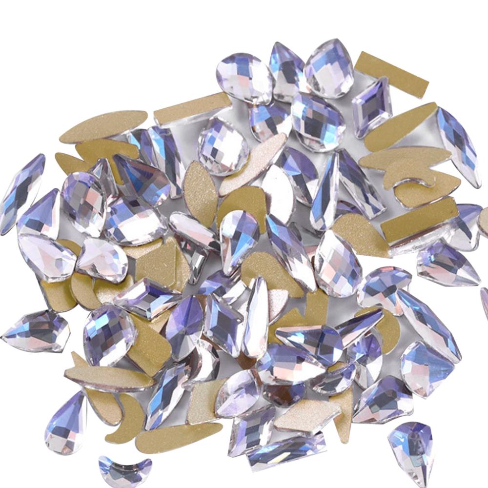 시크핏네일 스톤 네일파츠 도형혼합, 오로라 CFS002, 1세트