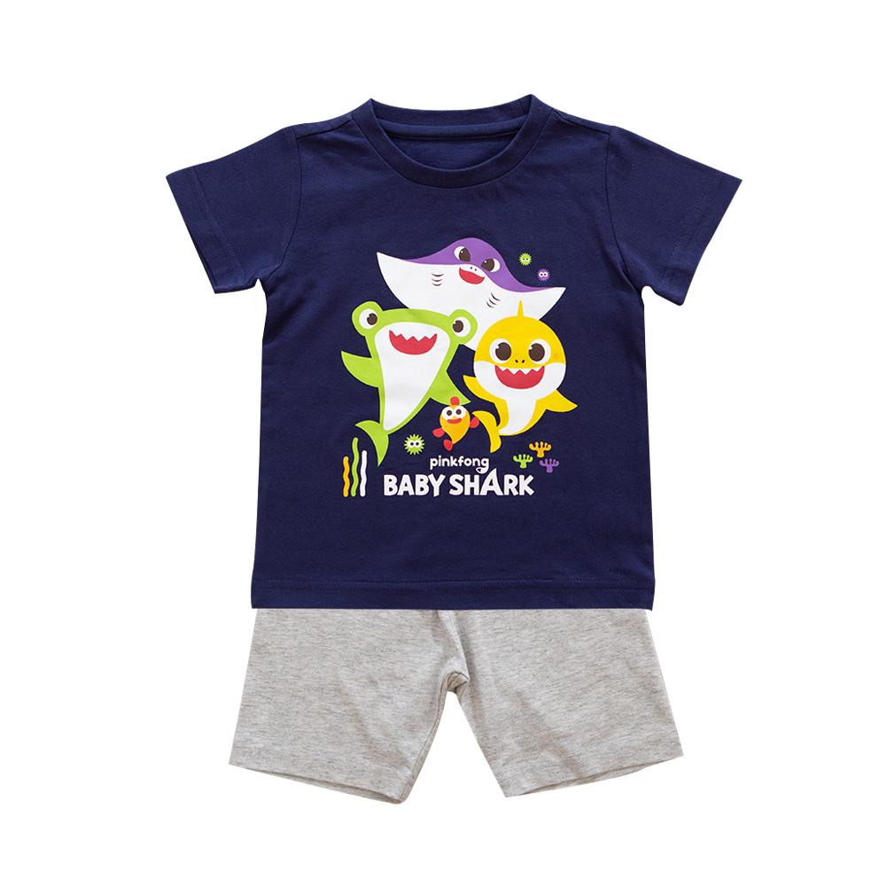 핑크퐁 아동용 아기상어 5부내의 상하복 세트