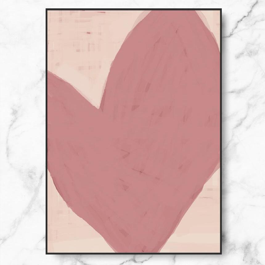 RYMD PINK HEART 메탈 액자, 블랙