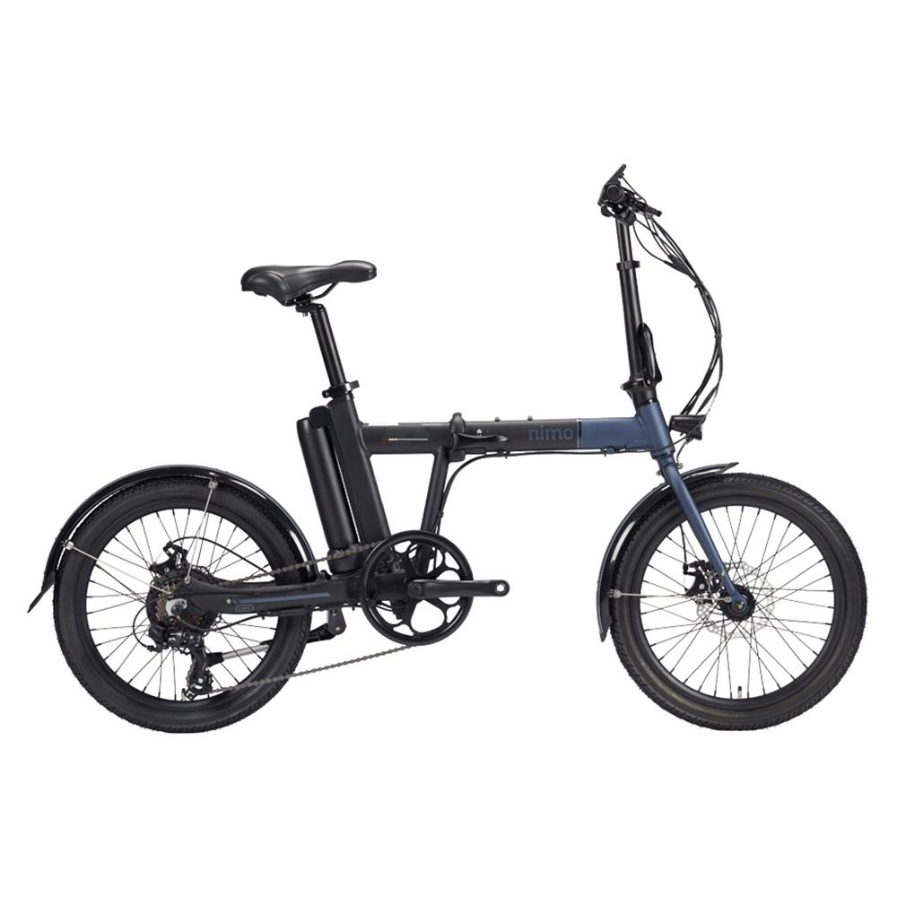 알톤스포츠 PAS 스로틀 겸용 전기 자전거 니모 FD + 헬멧 + 구성품 9종, 자전거(다크 그레이 + 블랙), 헬맷(랜덤발송)