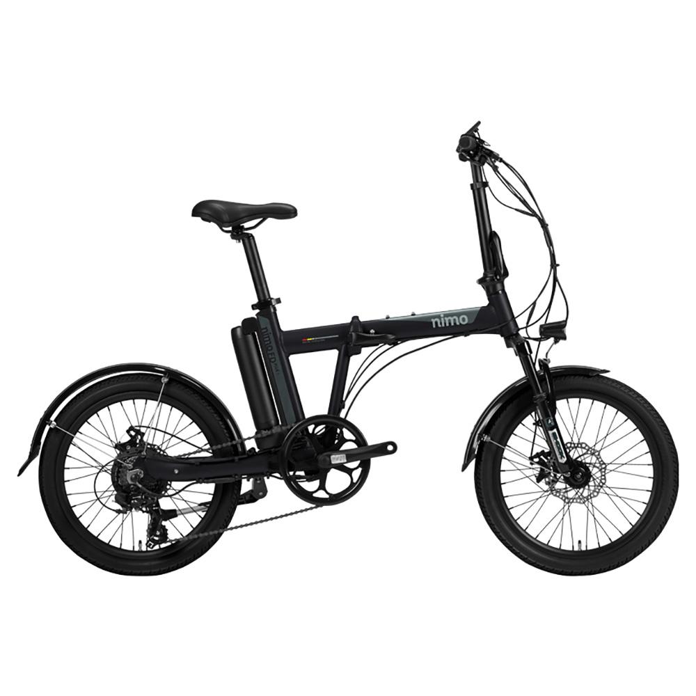 알톤스포츠 PAS 스로틀 겸용 전기 자전거 니모 FD PLUS 1 + 헬멧 + 구성품 9종, 자전거(블랙), 헬맷(랜덤발송)
