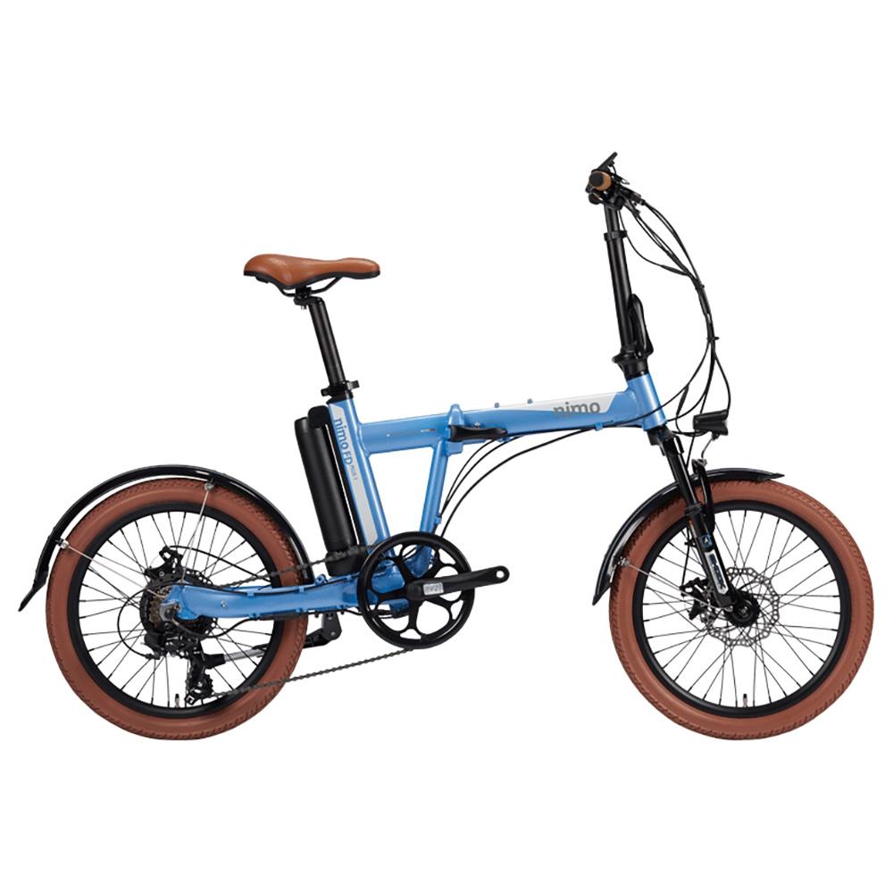 알톤스포츠 PAS 스로틀 겸용 전기 자전거 니모 FD PLUS 1 + 헬멧 + 구성품 9종, 자전거(라이트 블루), 헬맷(랜덤발송)