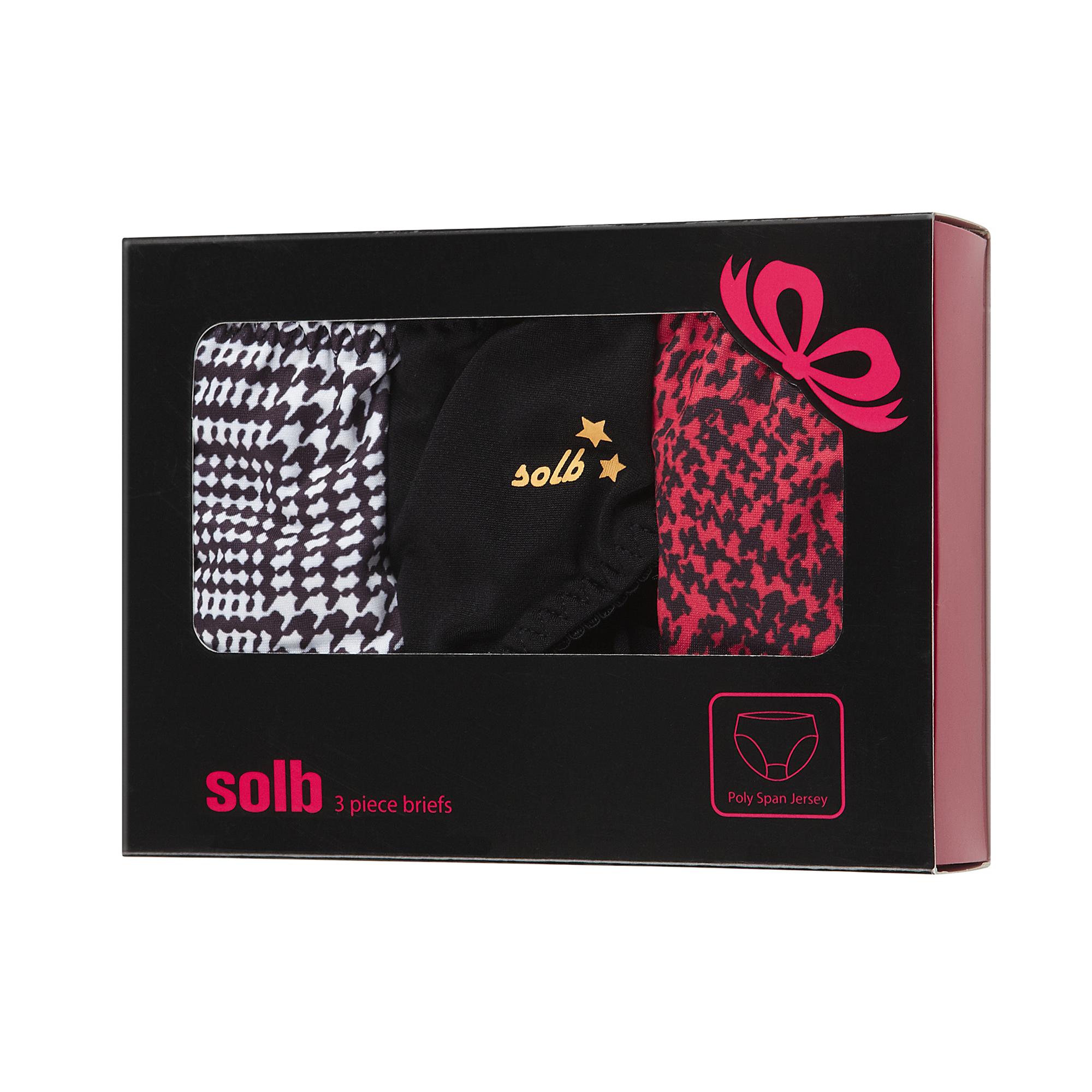 솔브 귀여운 나염 팬티 3종 선물세트