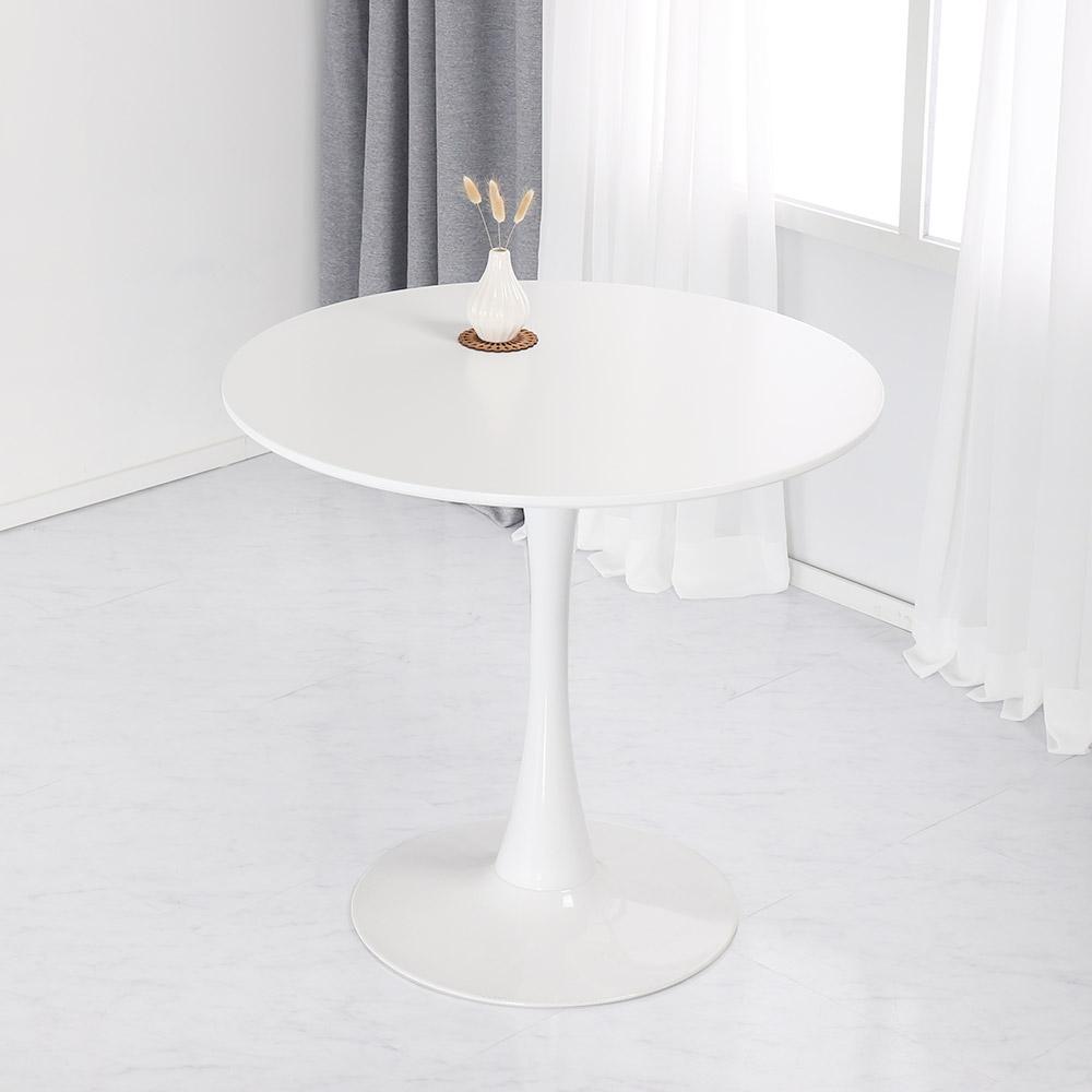 위드퍼니처 러블리 원형 테이블 800, 화이트