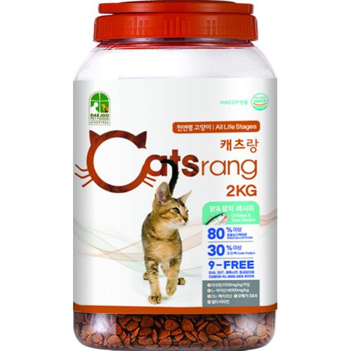 캐츠랑 전연령 올라이프 고양이 건식사료, 닭 + 참치, 2kg