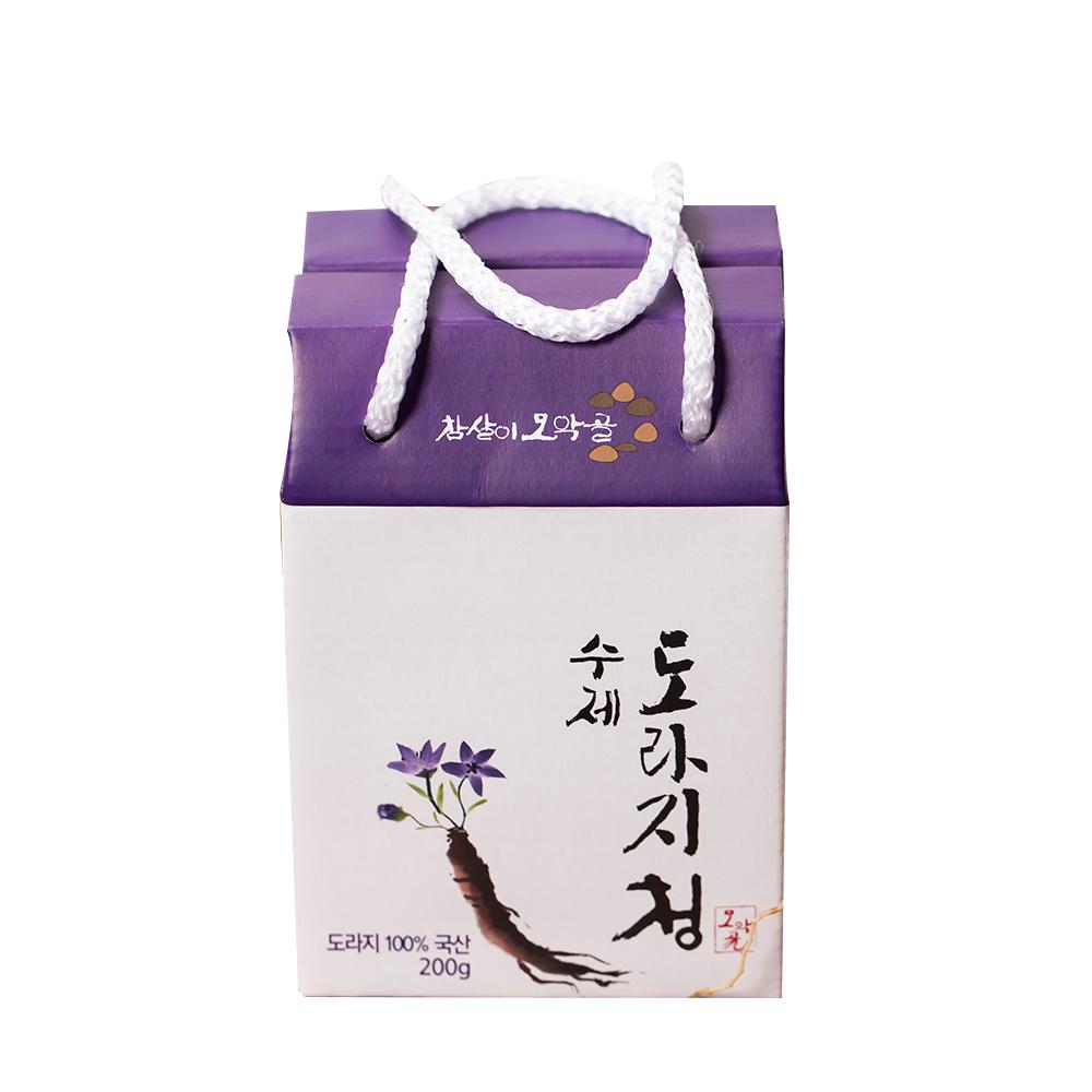 참살이모악골 수제 도라지청 200g + 선물박스, 1세트