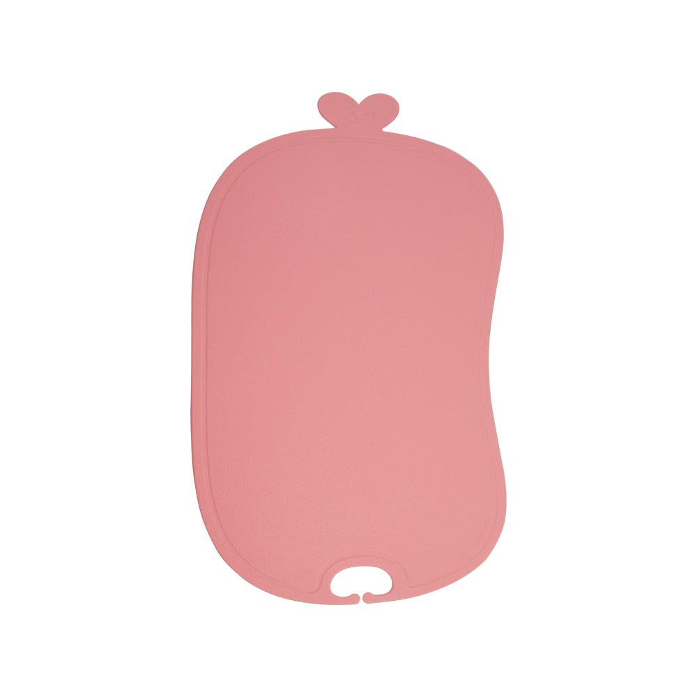 이놀 TPU 이유식 항균 도마, 핑크로즈