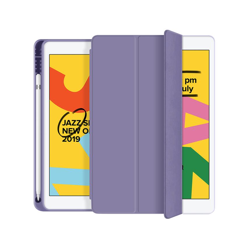애드온 TPU 펜슬 홀더 태블릿 케이스, 라벤더그레이