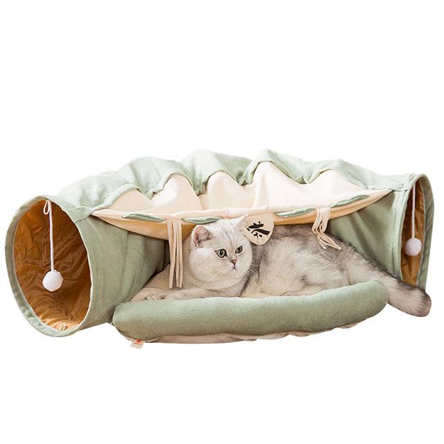 당감샵 고양이 테마 터널 숨숨집, 1개, 찻집