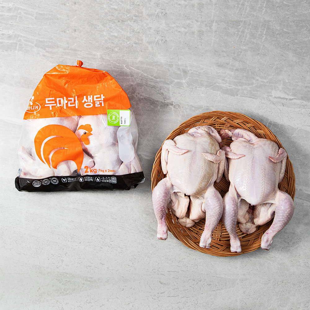 마니커 1등급 두마리 생닭 11호 (냉장), 1000g, 2개입