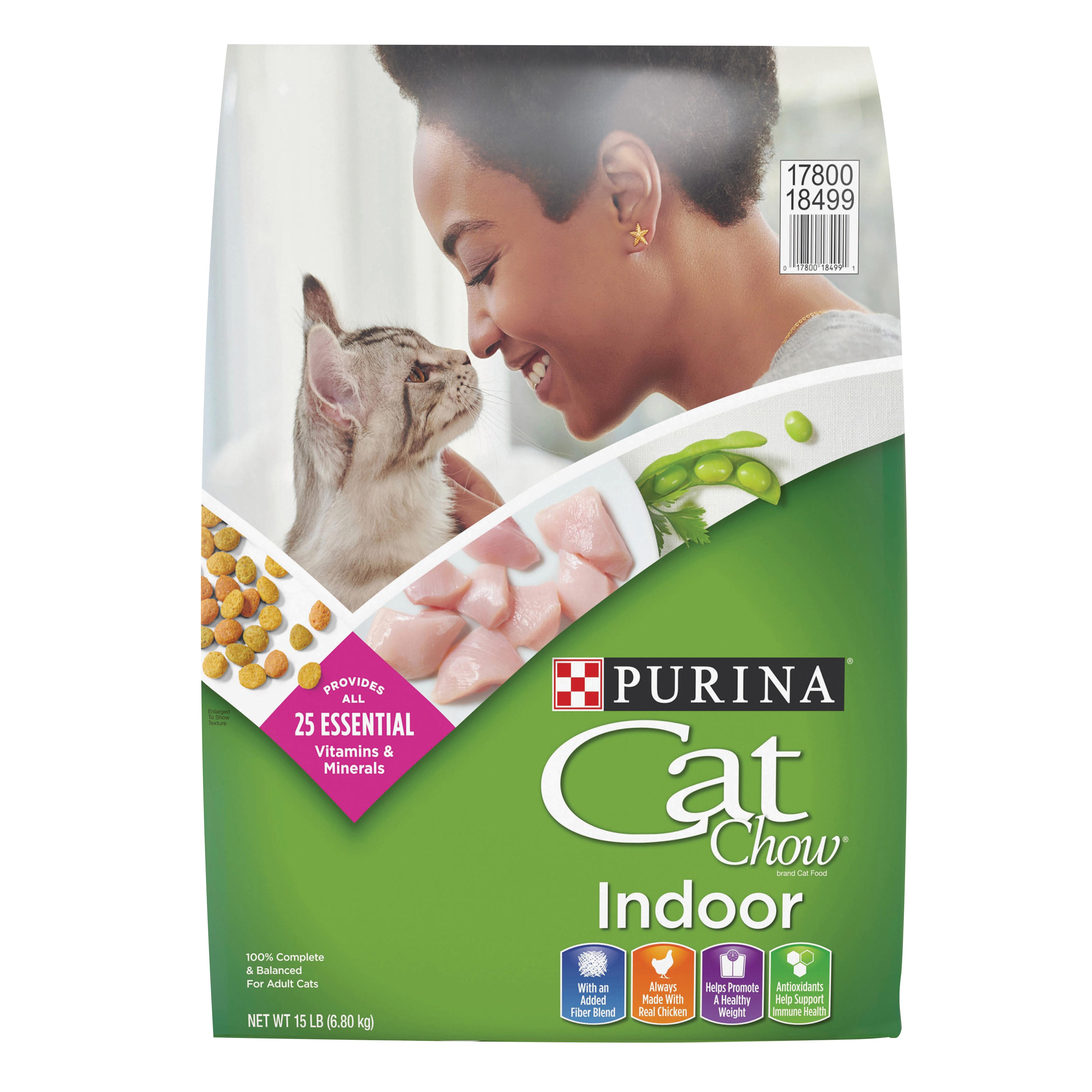 퓨리나 생후 12개월 이후 캣차우 인도어 고양이 건식사료, 닭고기, 6.8kg