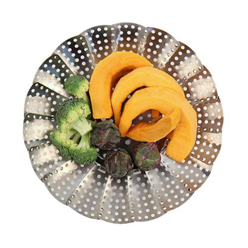 하우니 스텐레스 찜기, 대형( 접었을 때 17.5cm x 펼쳤을 때 29cm x 높이 11.5cm), 1개