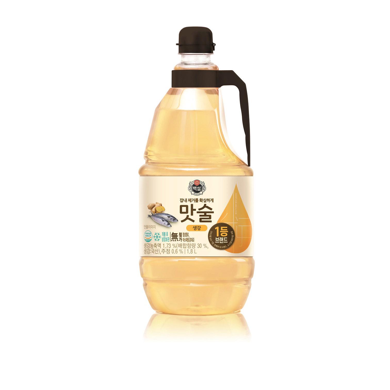 백설 맛술 생강, 1.8L, 1개