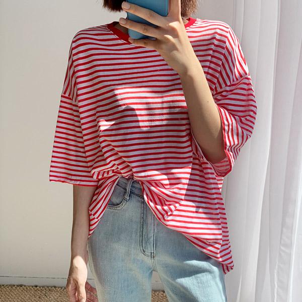 엔비룩 여성용 맥스 단가라 티셔츠