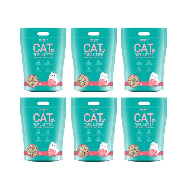 [강블리라이프] 강블리 라이프 고양이 두부 모래 우유향, 8L, 6개 - 랭킹4위 (32660원)