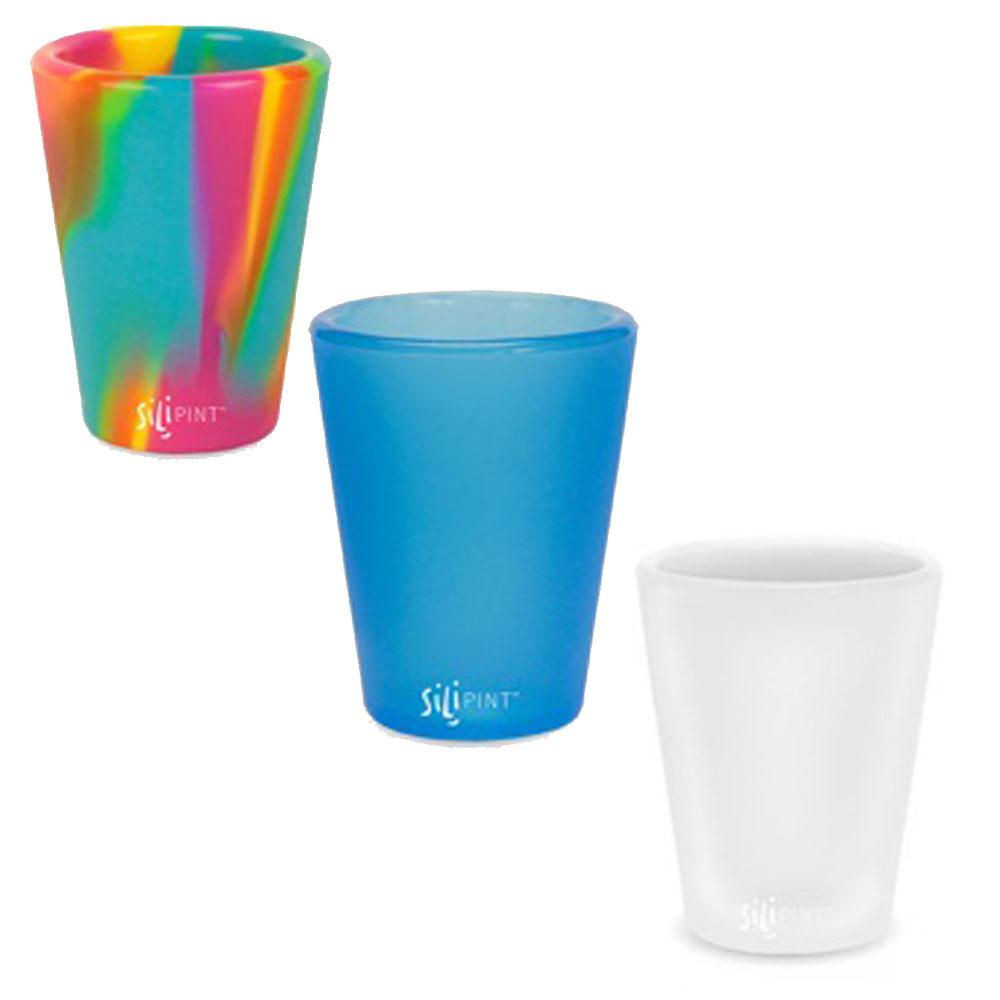 실리파인트 샷 컵 42ml 3종, 블루, 마블 레드, 화이트, 1세트