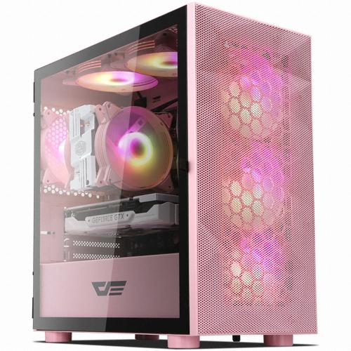 다크프래쉬 AZ RGB PC 케이스 DLM 21 메쉬 핑크