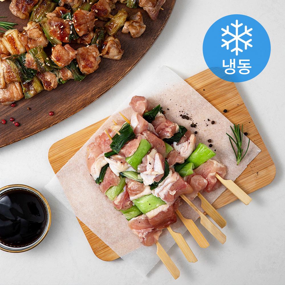 플레잇 국내산 파닭꼬치 50g x 12p + 숯불데리양념소스 150g 세트 (냉동), 1세트