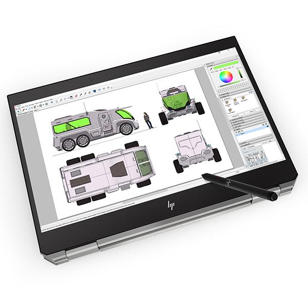 HP 노트북 Zbook Studio x360 G5-8AJ07AV (i9-9980HK 39.6cm Win10 Pro Quadro P2000 4GB 터치), 포함, NVMe 1TB, 16GB