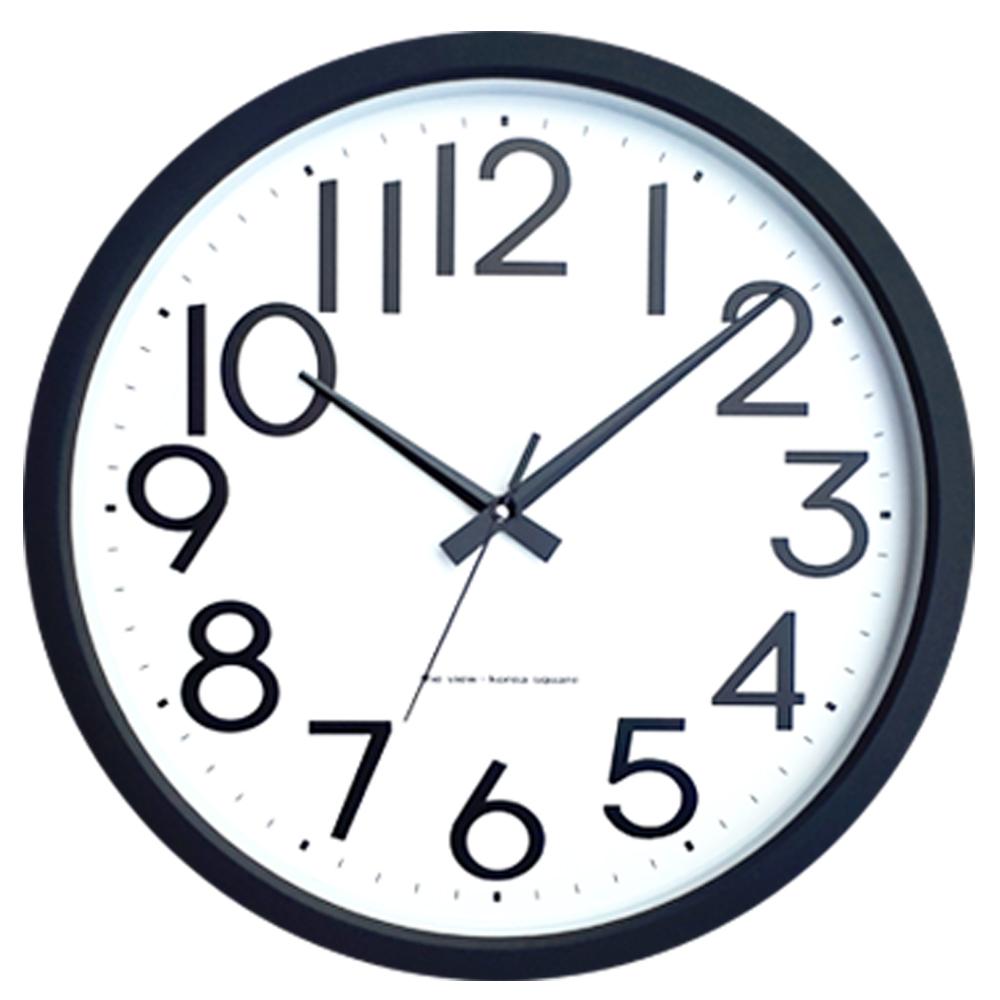 아트캄보 무소음 대형 벽시계 35.3cm KW712, 블랙