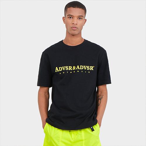 어드바이저리 남성용 로고 그래픽 크루 넥 티셔츠