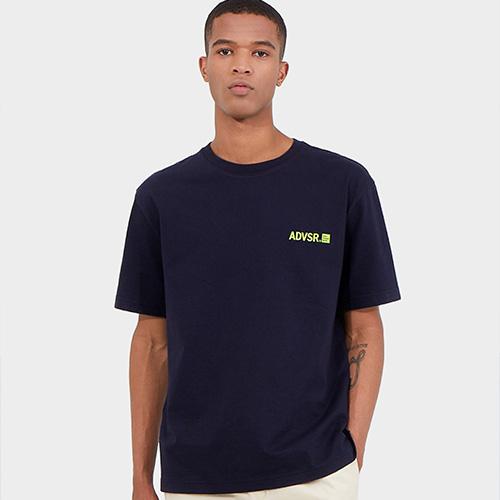 어드바이저리 스퀘어 그래픽 크루넥 반팔 티셔츠