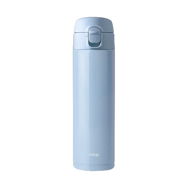 COUP 스테인레스 원터치 텀블러, 블루, 470ml
