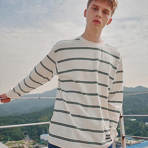 어드바이저리 Stripe Long Sleeve 긴팔 티셔츠