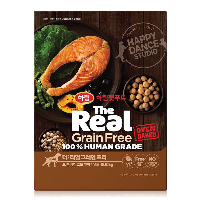 하림펫푸드 더리얼 그레인프리 오븐베이크드 어덜트 강아지사료, 연어, 5.8kg