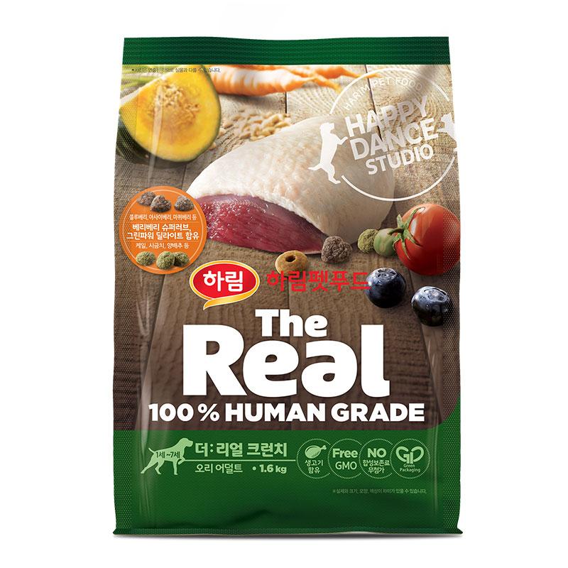 하림펫푸드 더리얼 크런치 어덜트 강아지사료, 오리, 1.6kg