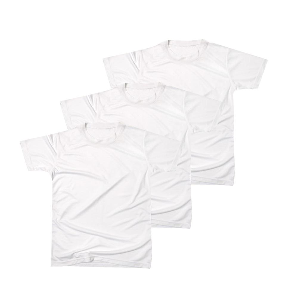 하비 남녀공용 순면 크루넥 반팔 티셔츠 3p