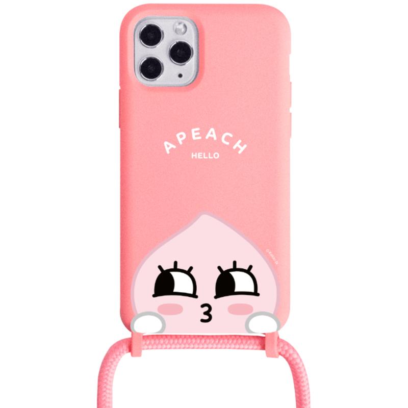 카카오프렌즈 까꿍 목걸이 소프트 휴대폰 케이스