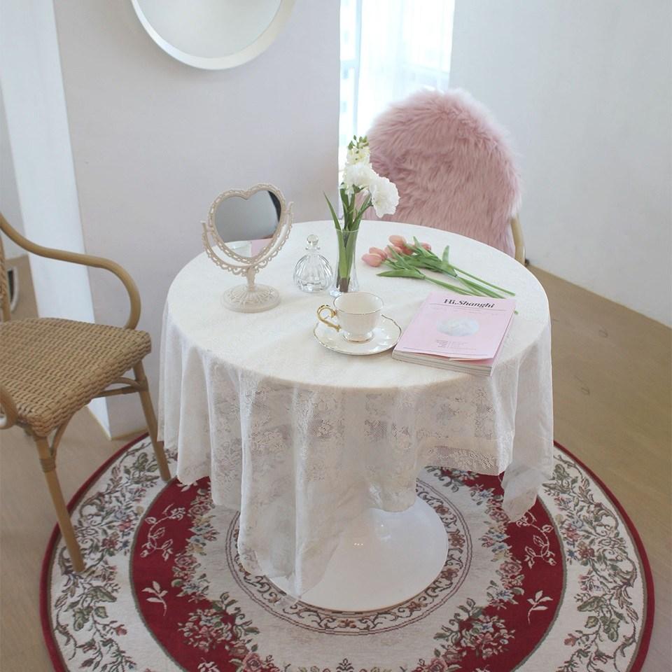 에코퍼 탁자 러그, 핑크