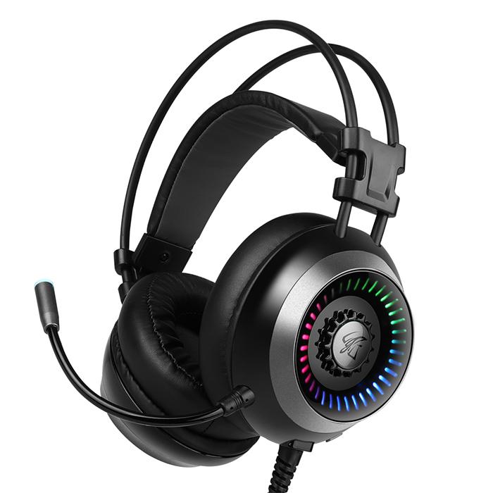 앱코 HACKER ENC 가상 7.1 진동 노이즈 캔슬링 마이크 3D 게이밍 헤드셋, B660, 블랙