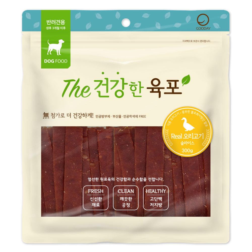 굿데이 더건강한육포 강아지간식 300g, 리얼 오리고기 맛, 1개