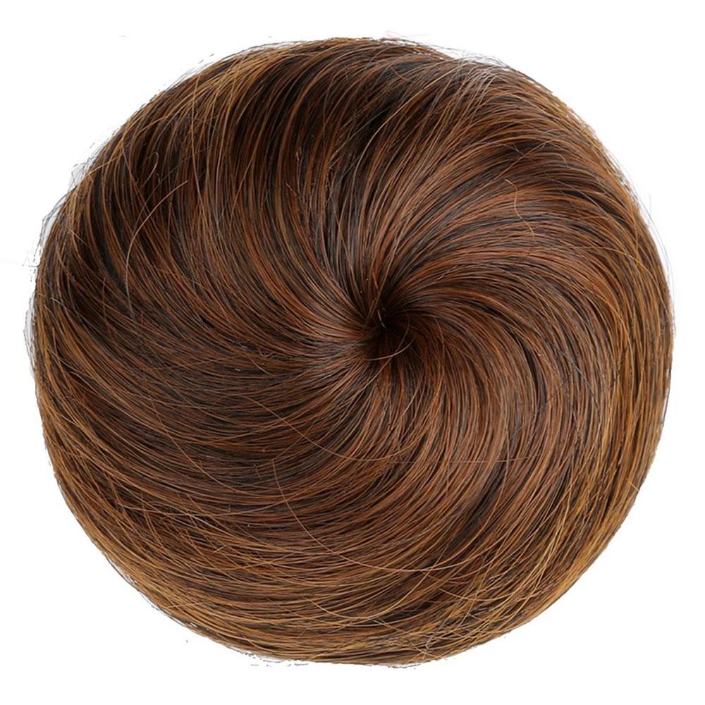 만두머리 부분가발, 1개, 밀크브라운