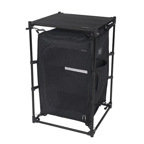스노우라인 캠핑용 큐브 캐비넷, 블랙, 1세트