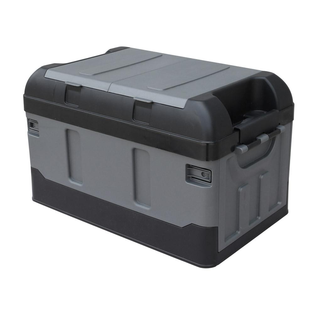 몬스터 2단 자동차 트렁크정리함 41.7L, 올블랙