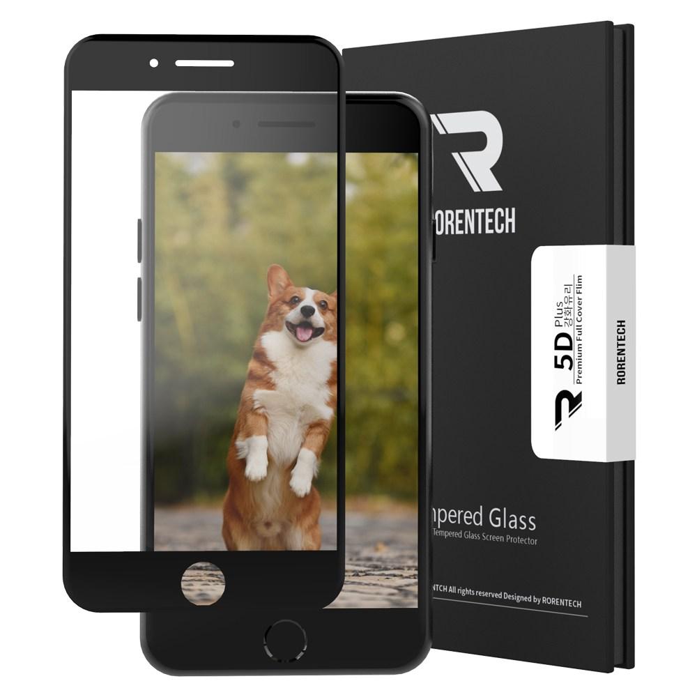 로랜텍 5D 강화유리 휴대폰 액정보호필름, 1개