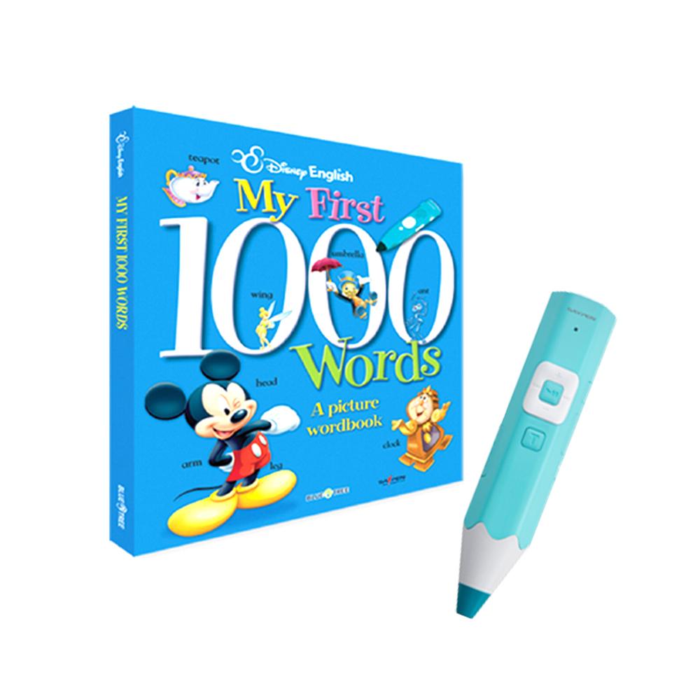 디즈니 1000 단어 사전 + 레인보우 세이펜 스카이블루 32G, 블루앤트리