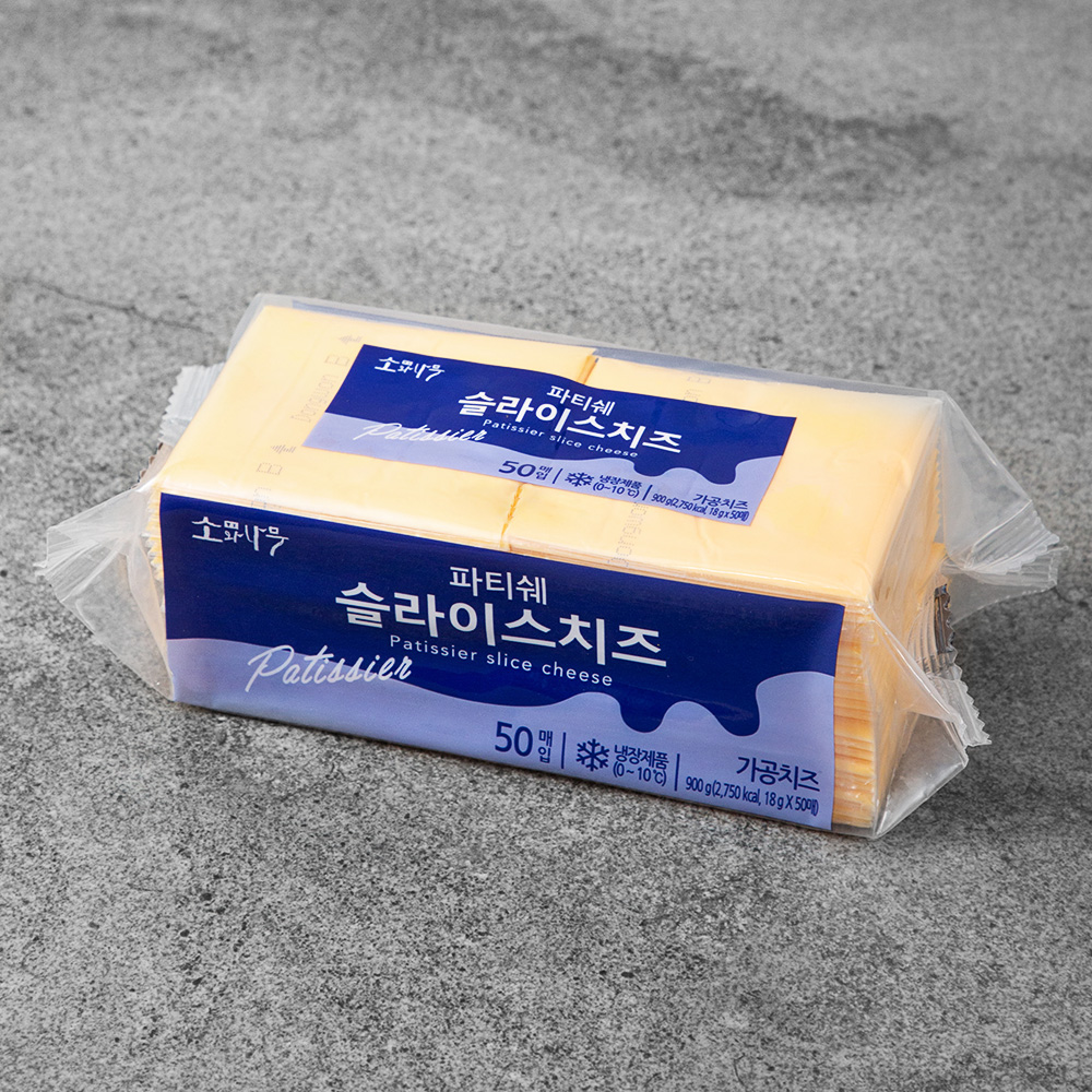 [ 슬라이스치즈] 소와나무 파티쉐 슬라이스 치즈, 900g, 1개 - 랭킹1위 (10410원)